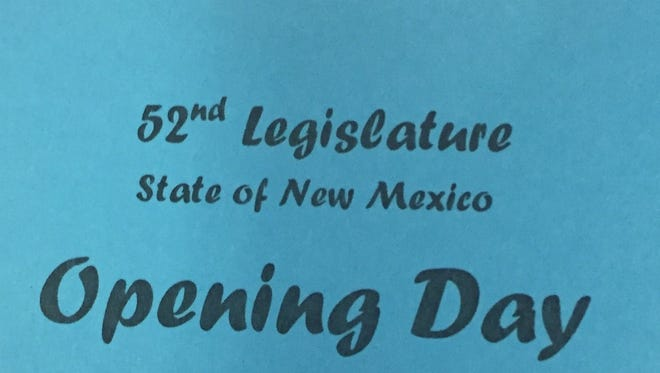 A seating pass for the opening day of the legislative session is pictured.