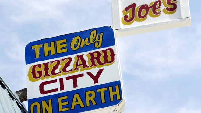 """The gizzards at Joe's Gizzard City in Potterville were featured on an episode of """"Diners, Drive-ins and dives"""" a decade ago. It still helps business, said owner Joe Bristol."""