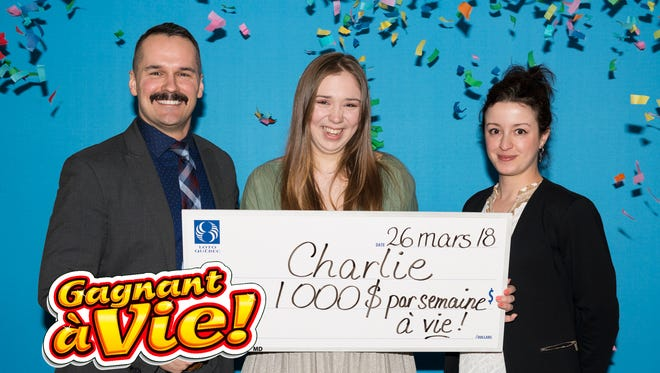 Charlie Lagarde of Montérégie, a province of Quebec, won a Canadian lottery jackpot on her first try.