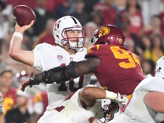 Southern California Trojans defensive tackle Rasheem