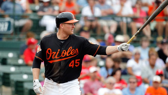 """""""There's a lot of good things that can happen when you hit it hard and you hit it in the air,"""" says last season's home run champ, Mark Trumbo of the Orioles."""