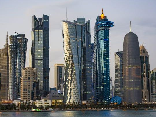 Doha, capital of Qatar.