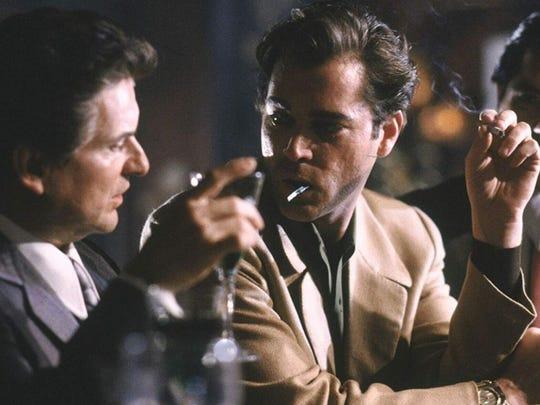 "Oscar winner Joe Pesci (left) and Ray Liotta star in Martin Scorsese's ""GoodFellas."""