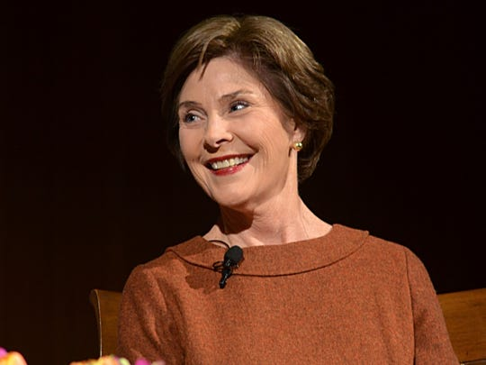 In her visit to Heidelberg University, former First Lady Laura Bush covered a broad range of topics, including bringing women to Washington D.C. from Egypt and Tunisia to show them symbols of democracy.