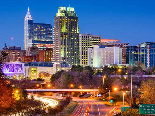 North Carolina: Raleigh.