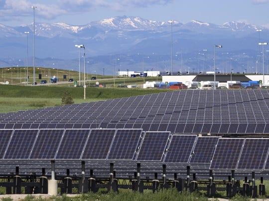 Solar electricity generators.