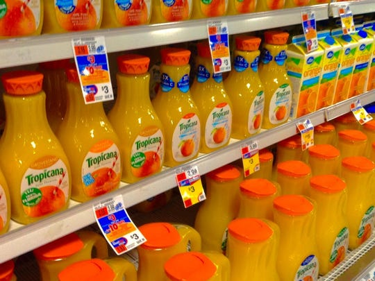 """People don't realize the amount of sugar juices have,"" said Donovan Maycock, a nutritionist at Perfect Solutions , a nutrition and weight loss center in San Antonio. ""The body was designed to eat an orange, not to drink five oranges."" A lot of the fruit's healthy nutrients have been lost when an orange is processed into juice and have been replaced by sugar, he noted, so in a way you're drinking liquid candy. In addition, juices don't have the same levels fruit does of fiber, which can reduce blood pressure and inflammation and help control blood sugar levels, or phytonutrients, natural compounds that can prevent multiple diseases."