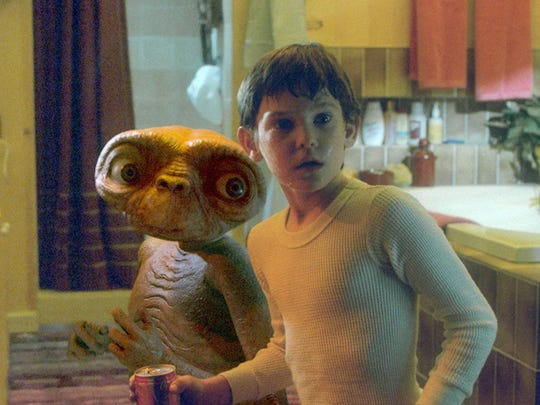 """E.T. the Extra-Terrestrial"" spawned the famous catchphrase, ""E.T. phone home!"""