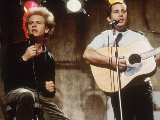 Art Garfunkel and Paul Simon.