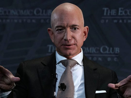28. Jeff Bezos     • Land area:  420,000 acres     • Roughly equal to:  Three times the size of Guam Amazon founder and CEO Jeff Bezos is not only one of the richest men in the world, with a net worth of $109 billion at the time of this writing, but he is also one of the biggest private landowners in the United States. Bezos owns 420,000 acres, much of which is in west Texas.
