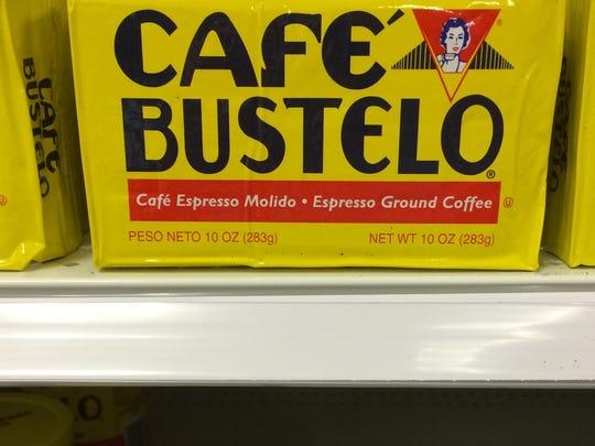 Café Bustelo coffee.