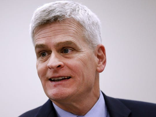 Louisiana: Sen. Bill Cassidy (R)     • Est. net worth in 2018:  -$1,115,970     • Assumed office:  Jan. 3, 2015     • Current term ends:  2021     • Approval rating:  47% approve; 26% disapprove