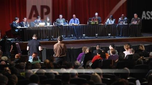 Council members listen to public comment at the Jackson