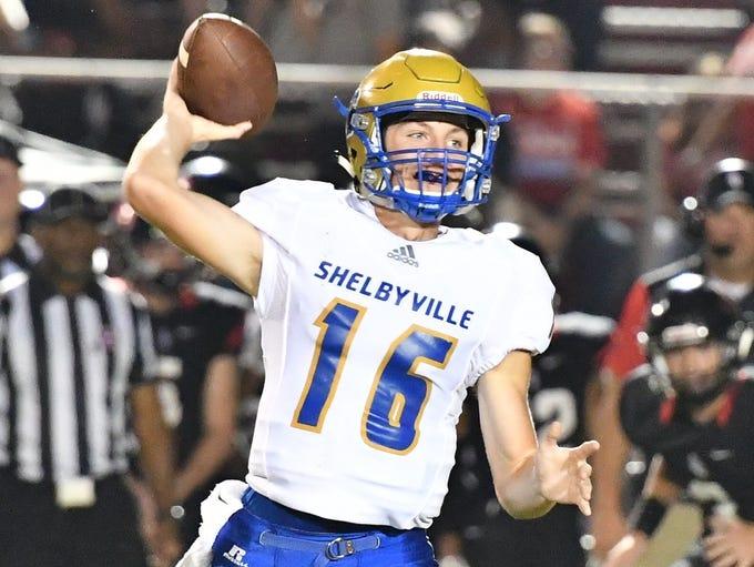Shelbyville quarterback Grayson Tramel