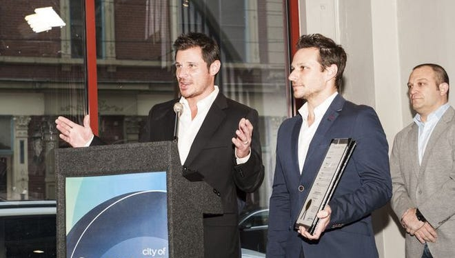 Nick Lachey talks about how he and Drew are happy to give back to Cincinnati.