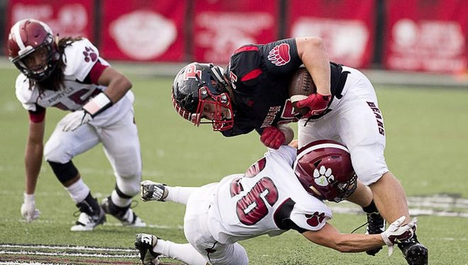 Pisgah's Michael Parrott carried the ball 24 times for 88 yards in Thursday's 17-14 home win over Asheville High.
