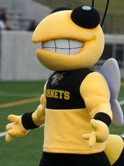 The new Alabama State University mascot entertains fans during the football scrimmage held at Hornet Stadium on the ASU campus in Montgomery, Ala., on Saturday August 22, 2015