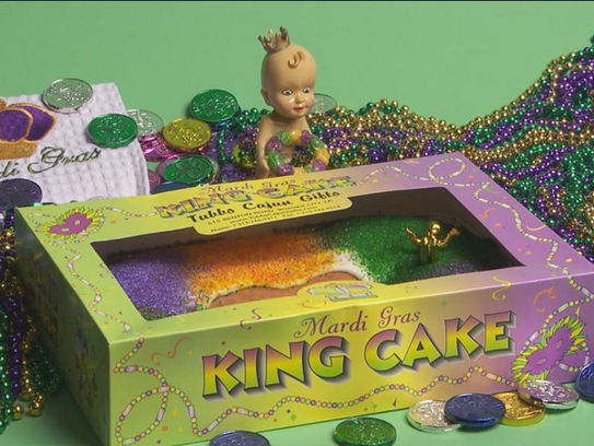 A king cake from Tubbs Hardware.