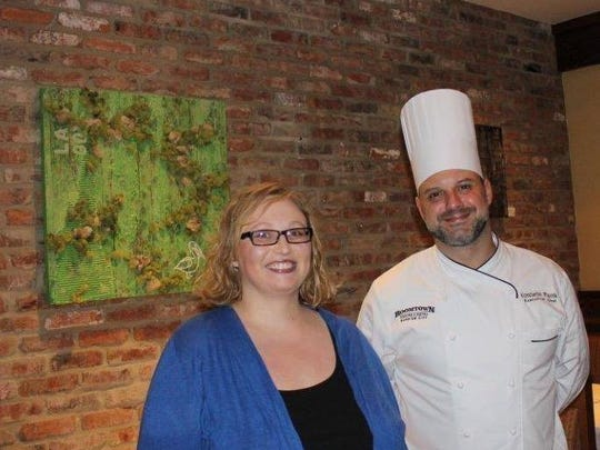 Ashley Wachal and 1800 Prime Steakhouse Chef Konstantin at Bossier Arts Council's WAM!