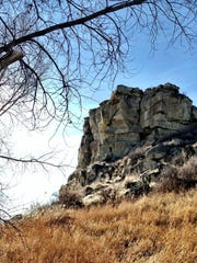 Pompeys Pillar east of Billings may be accessed by foot in the winter, and it's well worth the walk.