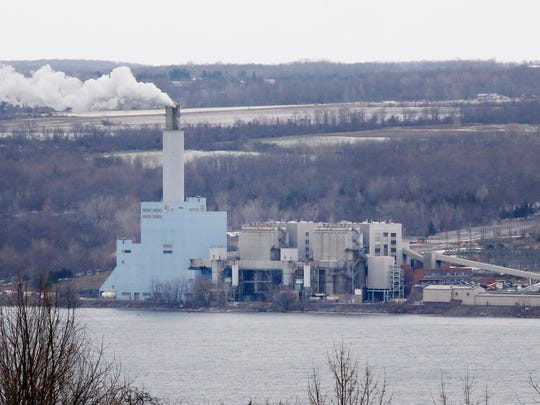 Emergency crews were called to the Cayuga power plant