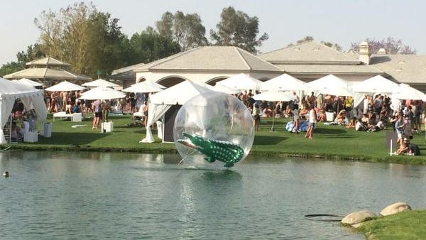 Lacoste pool party during weekend 1 of Coachella.