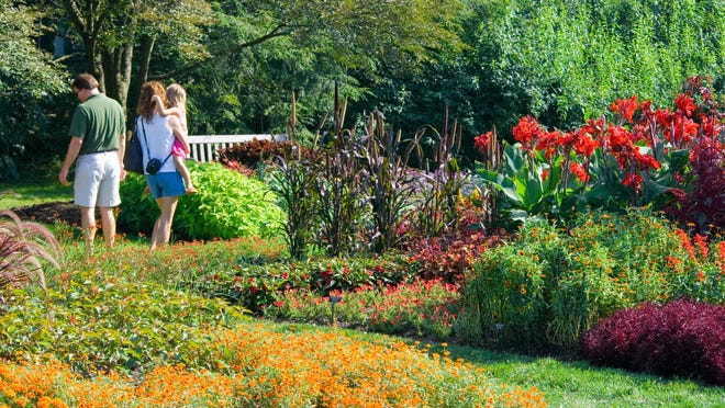 The Idea Garden where visitors can get the latest tips on gardening at Longwood Gardens