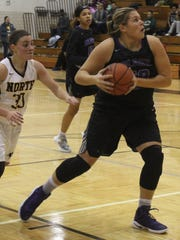 Senior center Amanda Sape (right) helped lead Bloomfield Hills to a perfect 10-0 record en route to the OAA White Division title this season.