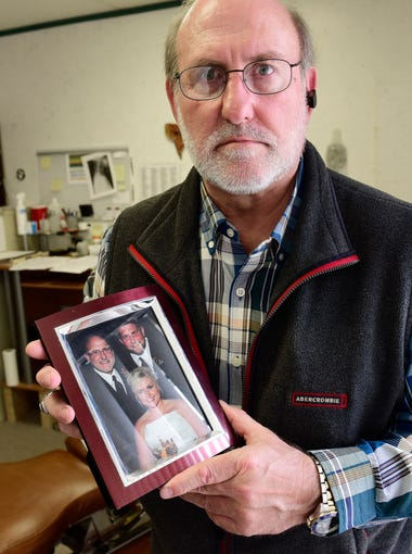 In 2016, drug overdose deaths doubled in Sandusky County from the previous year. Disguised as heroin, more powerful synthetic painkillers are causing an increase in overdose deaths in Sandusky County. Paul Silcox of Fremont holds a photo of his son, Joey, who was 25 when he died of a drug overdose on Nov. 12, 2016. Heroin, fentanyl and cocaine were found in his son's system after his death.