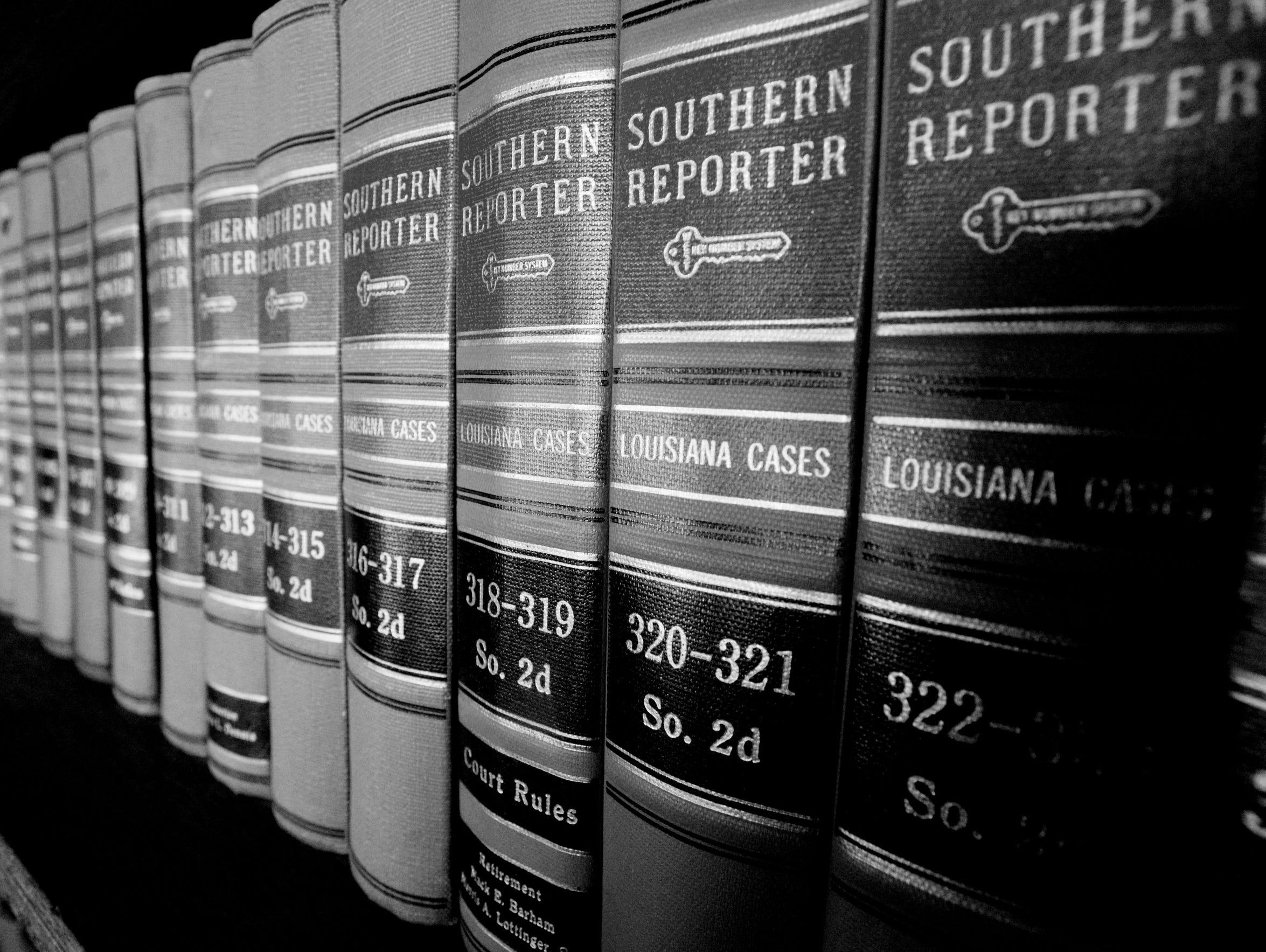 Law journals inside the Caddo Parish District Attorneys