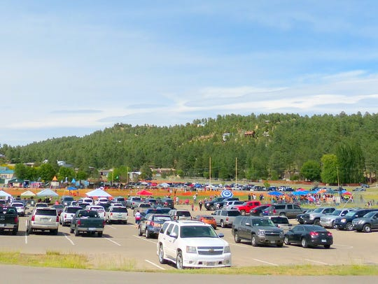 The parking areas at White Mountain Sports Complex
