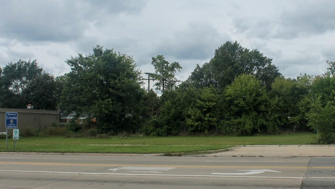 The site where a new gas station is proposed at the corner of Seven Mile and Inkster in Livonia. Another gas station occupied this corner until 2009, when it was demolished.