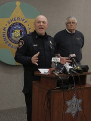 Winnebago County Sheriff John Matz talks about the deaths of Jean A. Walsh-Josephson, 57, of Oshkosh and her husband Dewey L. Josephson, 59, during a news conference Monday at the Winnebago County Sheriff's Office.