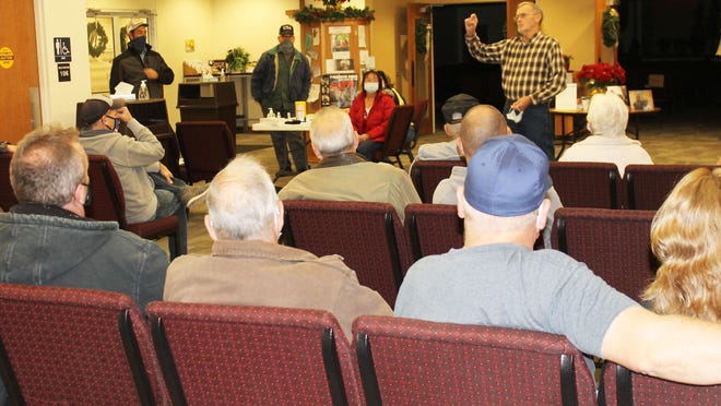 Jim Haylett was among the concerned citizens of Ovid Township questioning the solar farms being installed.