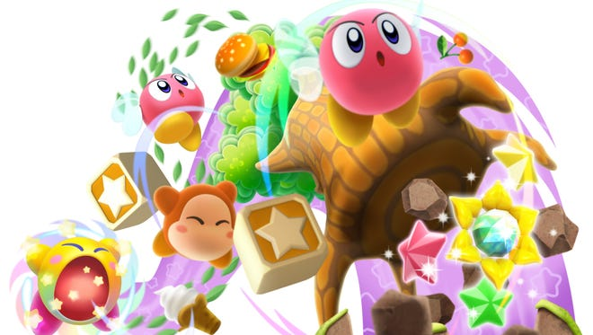 "Battle all sorts of foes and steal their powers in ""Kirby: Triple Deluxe"" for the Nintendo 3DS."