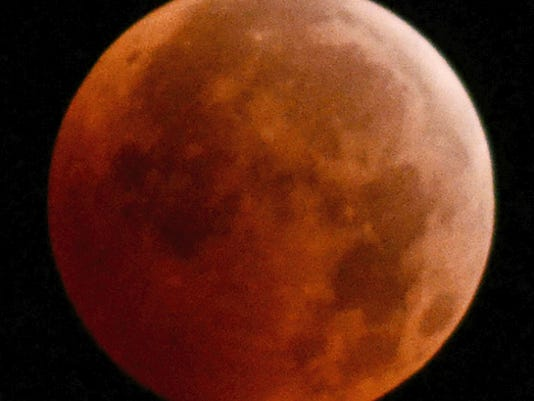 A full lunar eclipse, similar to this one from 2010, will be visible in York County on Sunday night, weather permitting.