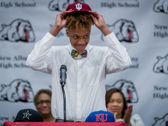 New Albany senior Romeo Langford announces his decision to attend Indiana  to continue his basketball career.