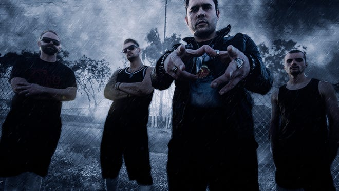 A recent publicity photo of the hard-rock band Trapt. Along with six other bands, they will play The Regency in downtown Springfield Aug. 12, 2016 as part of the Make America Rock Again tour.