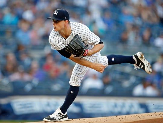Jul 26, 2018; Bronx, NY, USA; New York Yankees starting