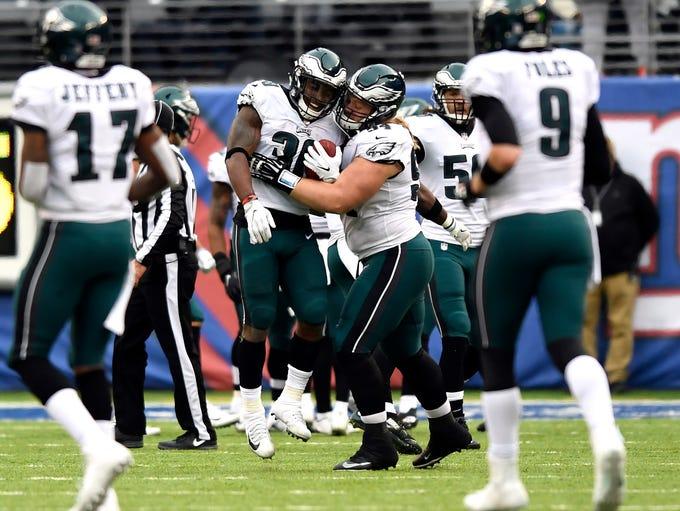 Philadelphia Eagles running back Corey Clement (30)