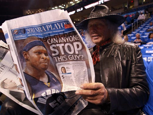 May 1, 2011 -   NBA fan Jim Goldstein, of Los Angeles,