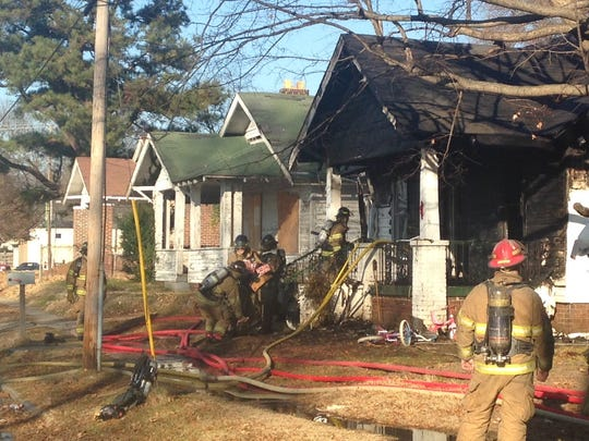 Jackson firefighters responded to a fire at a home on the 100 block of South Fairgrounds Street on Friday afternoon.