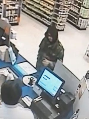The Rite Aid on Madison Street was robbed Wednesday morning by a man who said he had a gun.