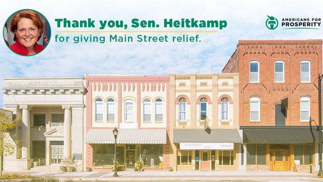 Americans for Prosperity, one of billionaire industrialists David and Charles Koch's main political arms, launched this digital ad campaign Friday thanking Heitkamp for cosponsoring a rollback of banking regulations.