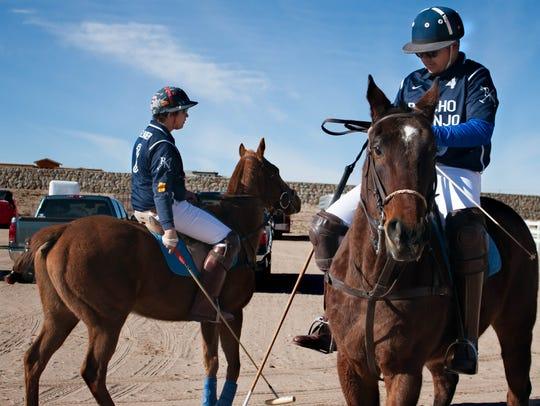Rancho Naranjo polo teammates Johan Felhaber and his