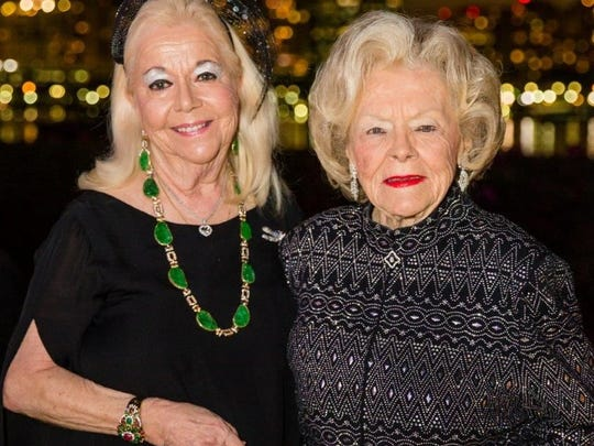 """Arlette Gordon and Dr. Elizabeth Bowden attend Palm Beach Opera's 2017 Gala – """"An Evening with Michael Fabiano"""" –  which took place on Feb. 2 at the Henry Morrison Flagler Museum in Palm Beach."""