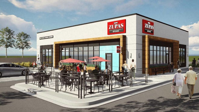 A 4,000-square-foot Café Zupas restaurant will open in Menomonee Falls' White Stone Station near the corner of Falls Parkway and Junction Way. Café Zupas specializes in healthy salads, soups, sandwiches and protein bowls. This will be just the second Wisconsin location for this restaurant chain.
