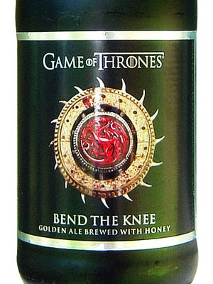 "Bend the Knee, from Brewery Ommegang in Cooperstown, N.Y., is 9% ABV. The beer commemorates the seventh season of HBO's ""Game of Thrones."""