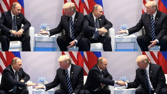 President Trump and Russian President Vladimir Putin on July 7, 2017.