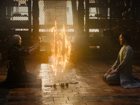 The Ancient One (Tilda Swinton) teaches Stephen Strange